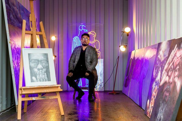 Baducao nel suo studio a Melbourne. (As Asanka Brendon Ratnayake / AFP)