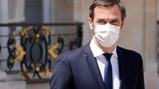 Le ministre de la Santé, Olivier Véran, à l'Elysée, le 9 juin 2021. (LUDOVIC MARIN / AFP)