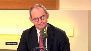 Patrick Jeantet, PDG de SNCF Réseau sur franceinfo, le 13 juin 2018. (FRANCEINFO / RADIOFRANCE)