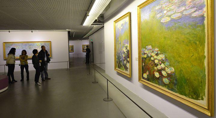 40 toiles de Monet prêtées par le musée Mamottan  (PETER PARKS / AFP )