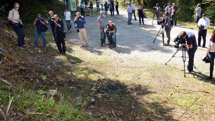 Le lieu de la tuerie de Chevaline (Haute-Savoie), le 7 septembre 2012. (PHILIPPE DESMAZES / AFP)