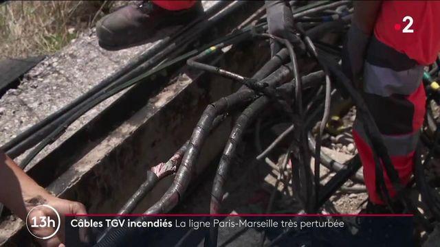 SNCF : des câbles d'alimentation électriques incendiés dans la Drôme, le trafic entre Paris et Marseille est très perturbé