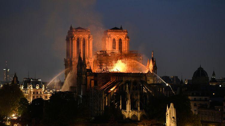 Incendie de Notre-Dame de Paris, le 15 avril 2019. (BERTRAND GUAY / AFP)