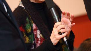 L'ancienne directrice de l'INA, Agnès Saal, le 20 mars 2015. ( CITIZENSIDE / AFP)