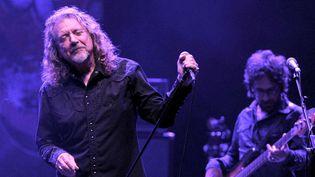 Robert Plant en concert avec son nouveau groupe, The Sensationnal Space Shifters, au Royal Albert Hall de Londres (31 octobre 2013)  (Brian Rasic / Rex / Sipa)