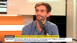 Pierre Jacquemain, rédacteur en chef de la revue Regards sur franceinfo, le 11 juin 2018. . (FRANCEINFO / RADIOFRANCE)