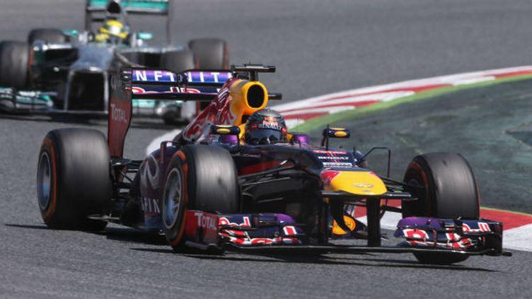 Sebastian Vettel au volant de sa Red-Bull