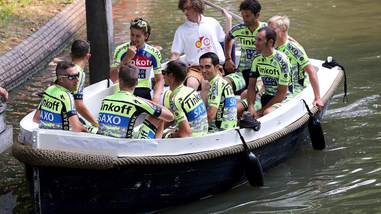 Contador aura pour lieutenant Rafal Majka, le maillot à pois de l'édition 2014. (DE WAELE TIM / TDWSPORT SARL)