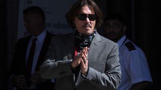 L'acteur Johnny Depp devant la Haute Cour de Justice de Londres le 21 juillet 2020. (ANTHONY HARVEY/SHUTTERSTOCK/SIPA / SHUTTERSTOCK)