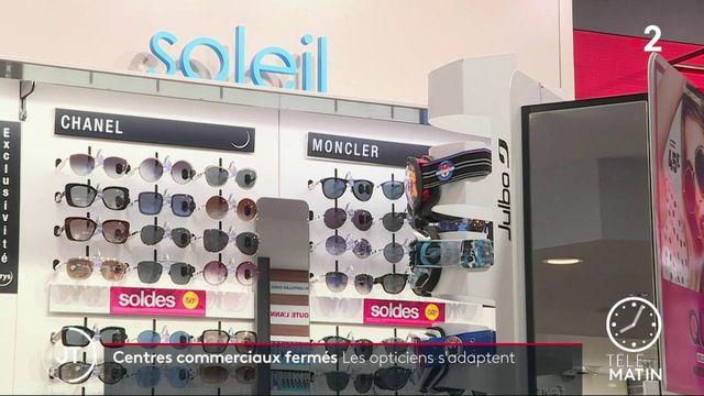 Covid-19: les opticiens s'adaptent face à la fermeture des centres commerciaux