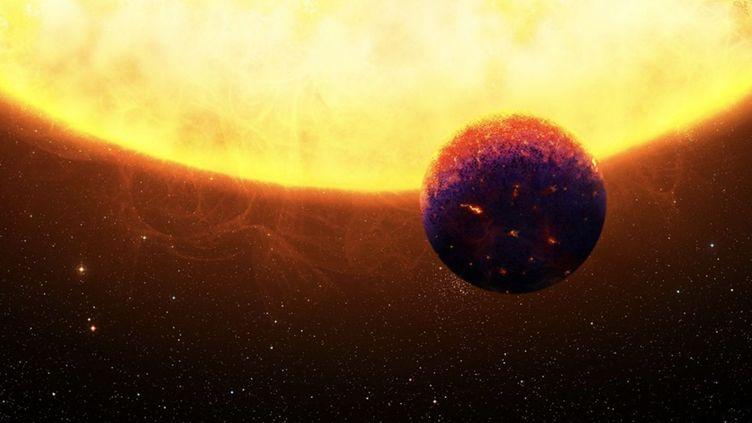 Image de l'université de Zurich (Suisse), présentant l'exoplanète découverte par des chercheurs de l'université et de Cambridge (Royaume-Uni), le 19 décembre 2018. (UNIVERSITE DE ZURICH / TWITTER)