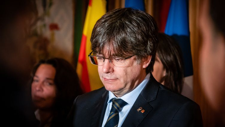Carles Puigdemont à Perpignan (Pyrénées-Orientales), le 29 février 2020. (ARNAUD LE VU / HANS LUCAS / AFP)