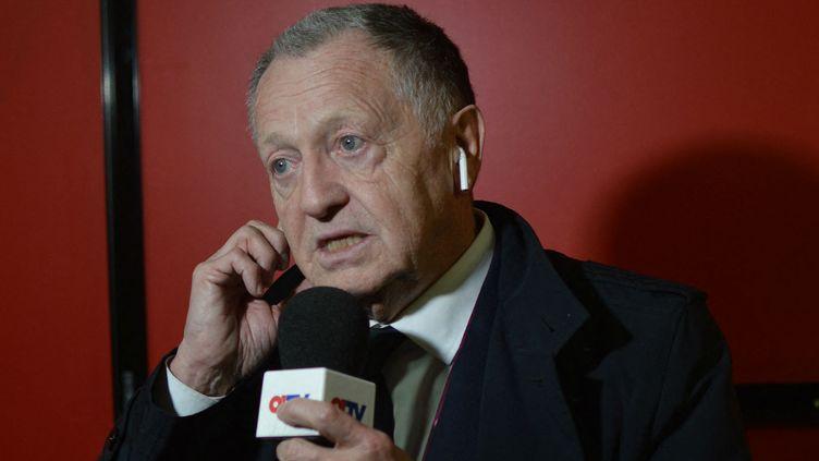 Jean Michel Aulas, le président de l'Olympique Lyonnais, à Dijon (Côte-d'Or) le 24 avril 2019. (VICTOR VASSEUR / RADIO FRANCE)