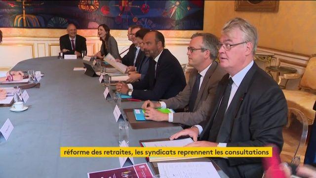 Réforme des retraites : reprises des consultations avec les syndicats