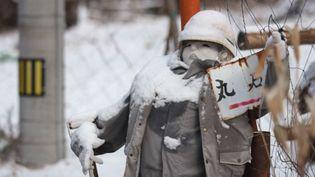 L'une des poupées à taille humaine installées dans le village deNagoro, au Japon. (FRANCEINFO)