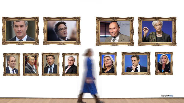 Le tableau de chasse politique du site Mediapart. (BASTIEN HUGUES / FRANCETV INFO)