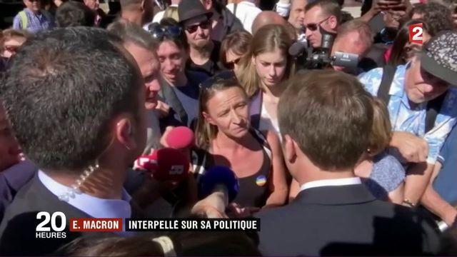 Emmanuel Macron interpellé à Marseille sur sa politique