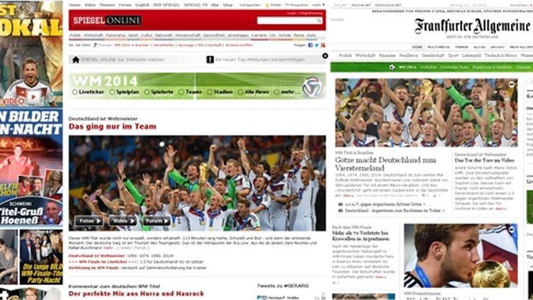 (© La presse allemande salue les champions du monde de football)