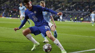Kai Havertz (Chelsea) lors de la dernière finale de Ligue des champions face à Manchester City, le 29 mai 2021. (MANU FERNANDEZ / POOL)