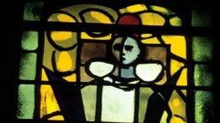 Détail d'un vitrail réalisé par Georges Braque, Chapelle Saint-Dominique, Varengeville-sur Mer  (YVAN TRAVERT / PHOTONONSTOP)