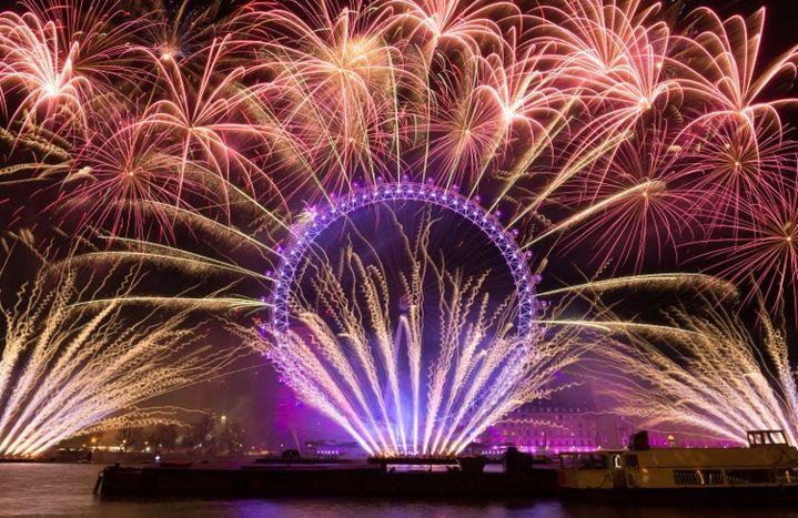 Nouvel An 2018 à Londres  (VICKIE FLORES / ANADOLU AGENCY)