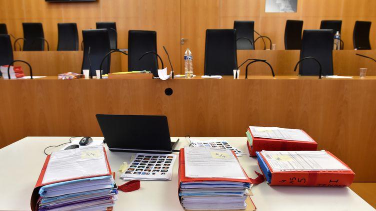 L'intérieur de la cour d'appel de Caen (Calvados), le 3 octobre 2018. (JEAN-FRANCOIS MONIER / AFP)