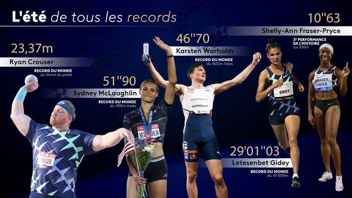 Quatre records du monde d'athlétisme ont été battus depuis le mois de juin 2021. Qu'en sera-t-il lors des JO de Tokyo ? (FLORIAN PARISOT / FRANCEINFO SPORT / AFP)