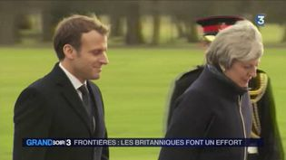 Emmanuel Macron a rencontré Theresa May. (FRANCE 3)