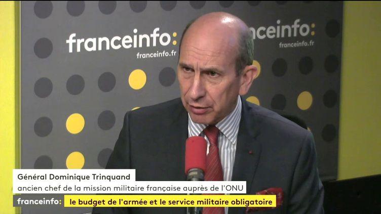 Le généralDominique Trinquand, le 14 juillet 2017. (FRANCEINFO)