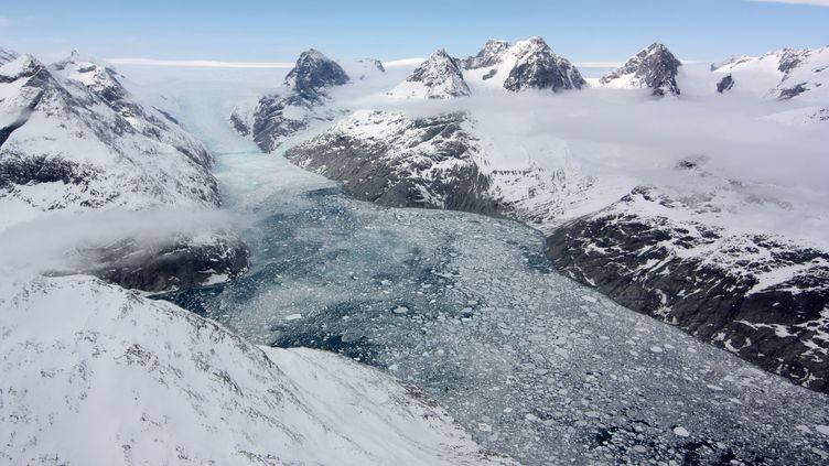 Des glaciers du Groenland pris en photo par la Nasa le 3 mai 2012. (NASA / AFP)