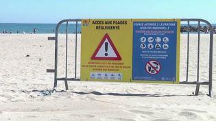 Les plages sont ouvertes dans de nombreuses communes pour le week-end prolongé de l'Ascension. Cependant, pas question de rester statique sur sa serviette. (FRANCE 2)