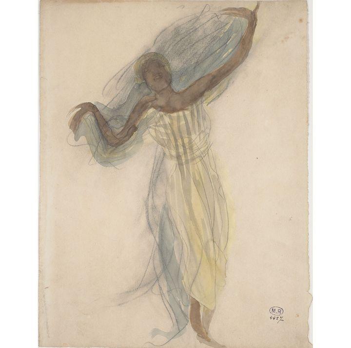 """Auguste Rodin, """"Danseuse cambodgienne de face""""  (musée Rodin, photo J. de Calan)"""