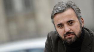 Alexis Corbière est le porte-parole de Jean-Luc Mélenchon à la présidentielle 2017. (MIGUEL MEDINA / AFP)