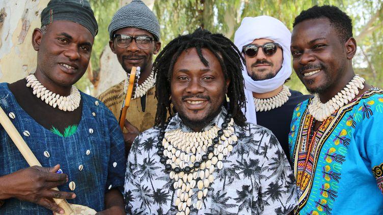 Les membres du groupe de musique Pulo NDJ (Hape Collective)