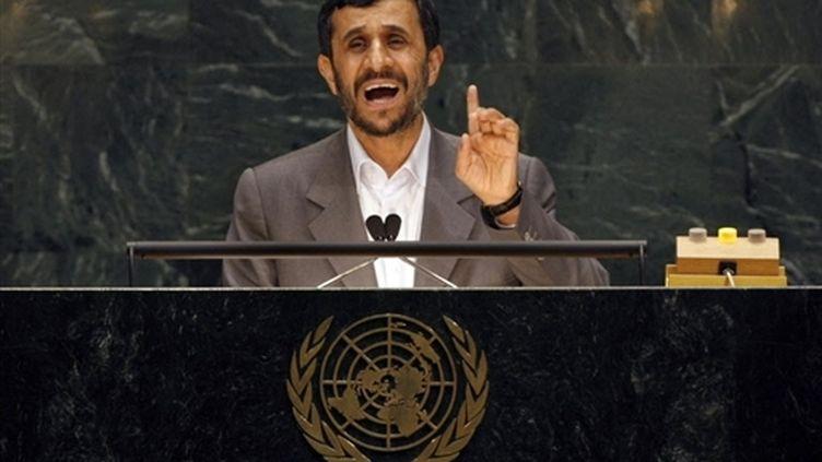 Le président iranien, Mahmoud Ahmadinejad, s'adresse à la 62e Assemblée générale de l'ONU (25-9-2007). (AFP - Timothy A.Clary)