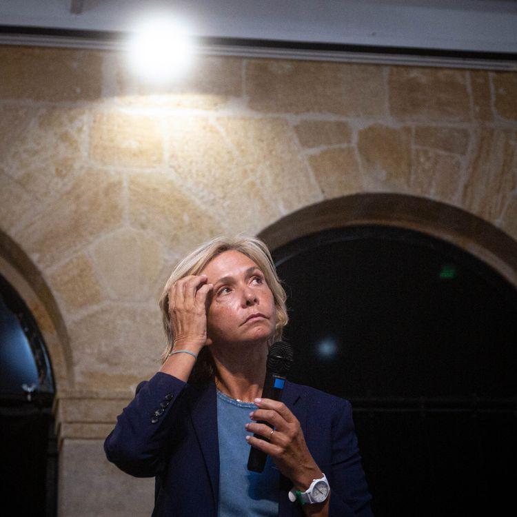 Valérie Pécresse, candidate à l'élection présidentielle de 2022, le 23 août 2021 à Bordeaux (Gironde). (DUPRAT STEPHANE / HANS LUCAS / AFP)