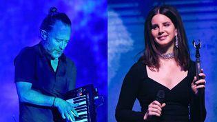 Thom Yorke de Radiohead vs Lana Del Rey, dans une affaire de plagiat supposé.  (Kevin Winter / Getty / AFP et Mike Coppola / Getty / AFP)