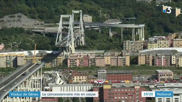Viaduc de Gênes : le concessionnaire mis en cause