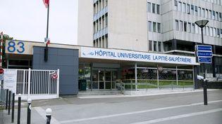 L'entrée de l'hôpital de la Pitié-Salpêtrière, à Paris, le 31 juillet 2014. (IMAGE POINT FR / BSIP / AFP)