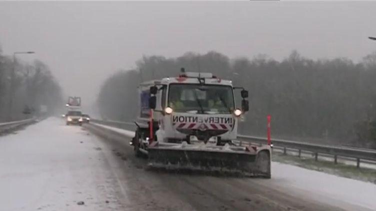 Les routes d'Île-de-France déblayées mardi 22 janvier 2019 (CAPTURE ECRAN FRANCE 2)