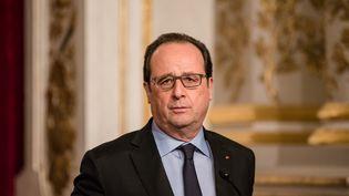 François Hollande, le 3 février 2015, à l'Elysée. (YANN KORBI / AFP)