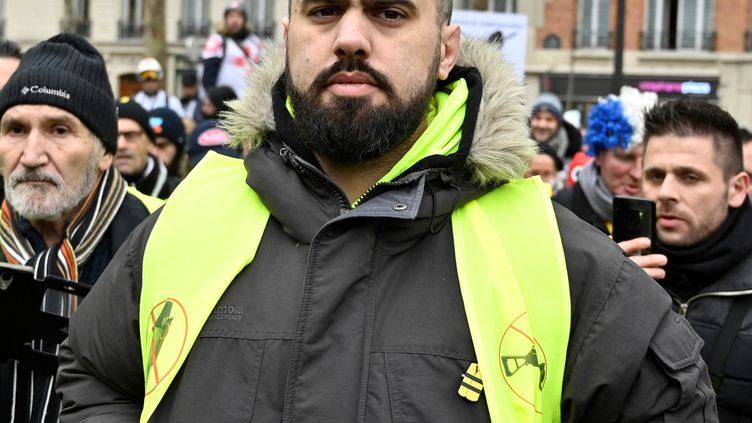 Eric Drouet, le 2 février 2019, à Paris. (MUSTAFA YALCIN / AFP)