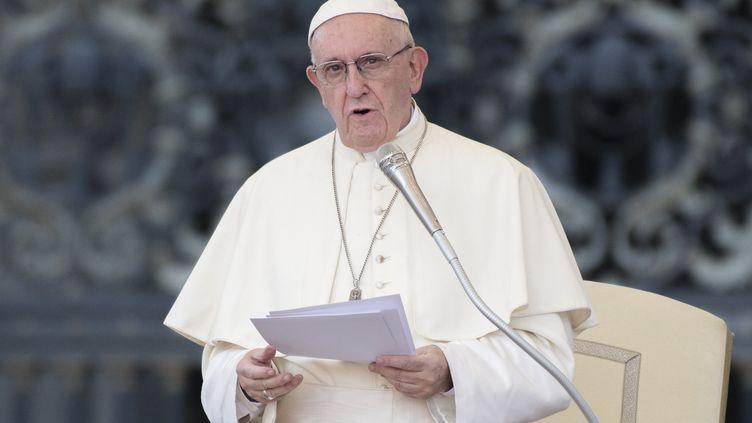 Le pape François au Vatican, le 31 juillet 2018. (MASSIMO VALICCHIA / AFP)
