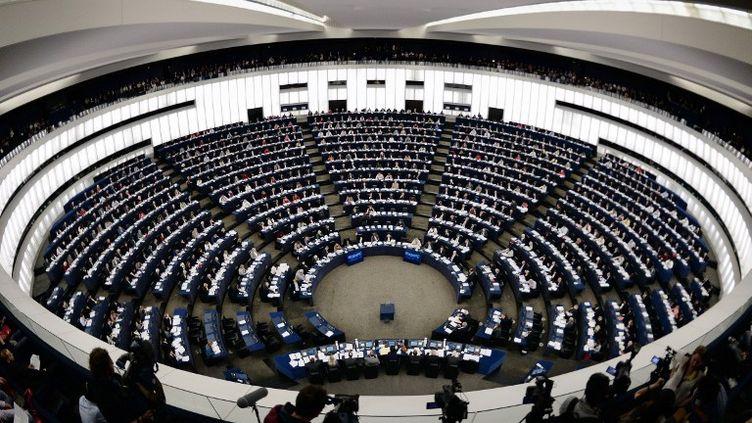 La session pleinière du Parlement européen, le 15 avril 2014, à Strasbourg. (FREDERICK FLORIN / AFP)