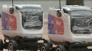 En Colombie, les robots ont remplacé les hommes pour livrer les courses. (FRANCE 2)