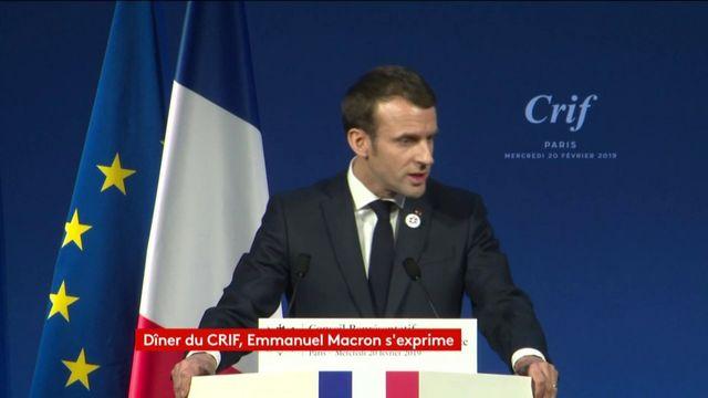 La France va adopter une définition de l'antisémitisme qui intègre l'antisionisme, annonce Emmanuel Macron au dîner du Crif
