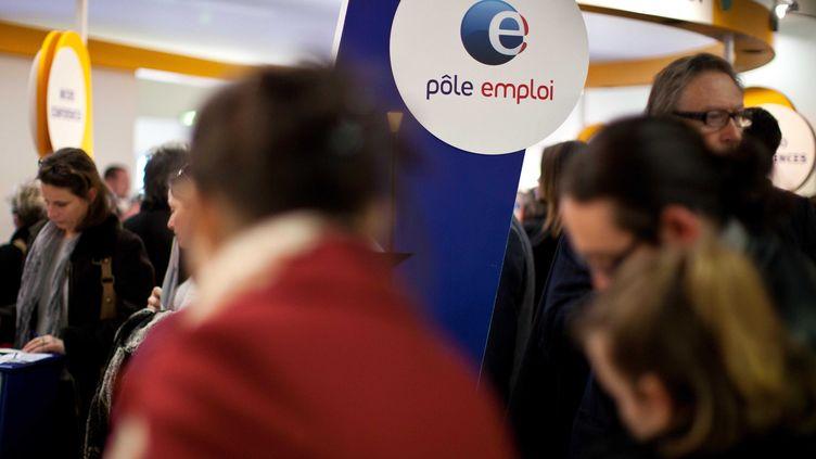 Un stand de Pôle emploi, au Salon des entrepreneurs de Paris, le 6 février 2013. ( SIPA)