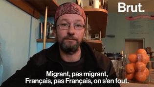 Christian, SDF, rappelle qu'il ne devrait pas y avoir de débat concernant les migrants. (Brut)