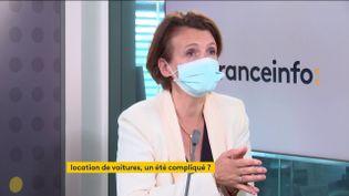 Carolien Parot, directrice générale d'Europcar Mobility Group ( 16 juin 2021). (FRANCE INFO / RADIO FRANCE)