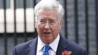 Michael Fallon, le 31 octobre 2017 à Londres (Royaume-Uni). (TOLGA AKMEN / AFP)